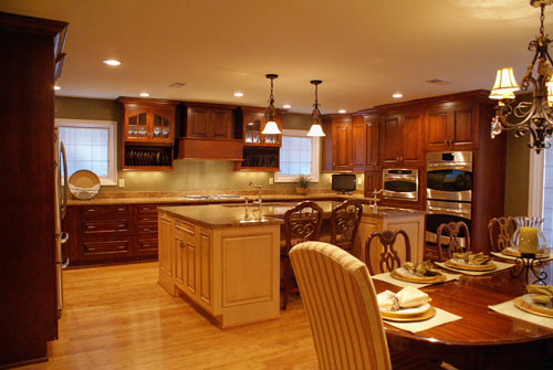 Traditional kitchen photo with multi-color cabinets - view 2