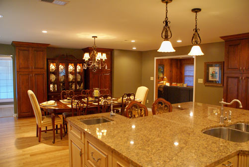 Traditional kitchen photo with multi-color cabinets - view 4